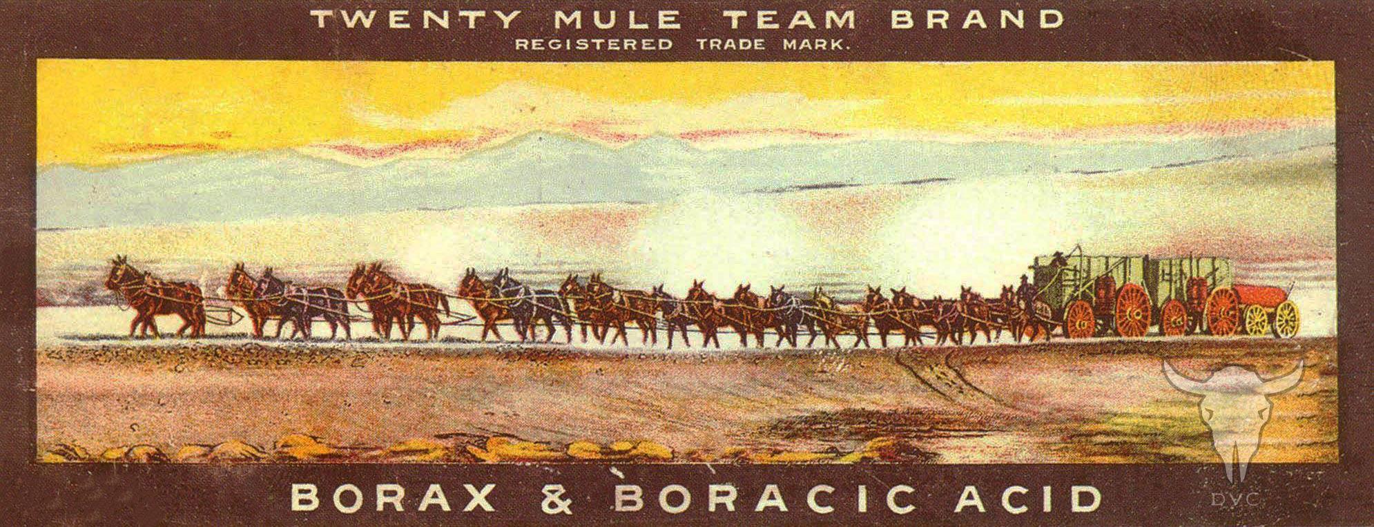Twenty Mule Team Brand Registered Trade Mark Borax and Boracic Acid