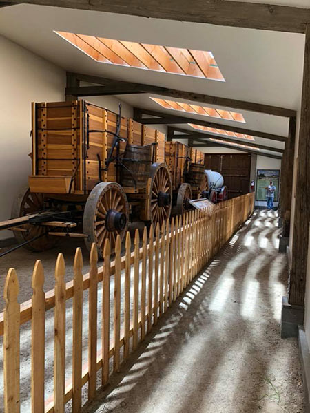 Borax wagons at the Laws Railroad Museum in Bishop, CA
