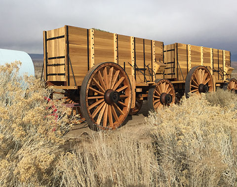 Borax Twenty Mule Team® of Death Valley exact replica wagons.