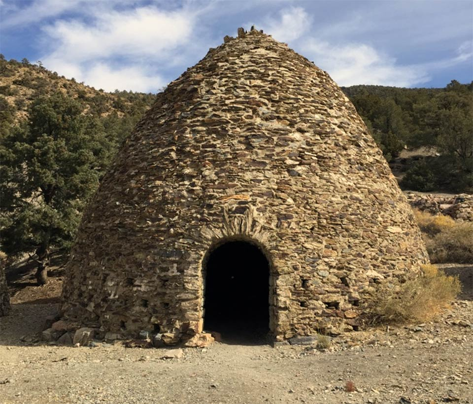 The Charcoal Kilns at Wildrose Canyon were constructed in 1877.